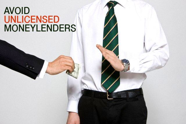 How do I know whether a moneylender is licensed or not?